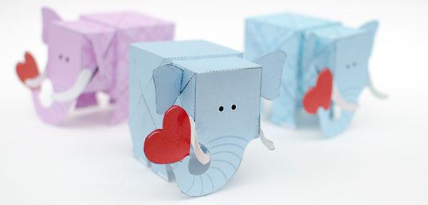 Elephant Rob Ives – Elephant Valentines Card